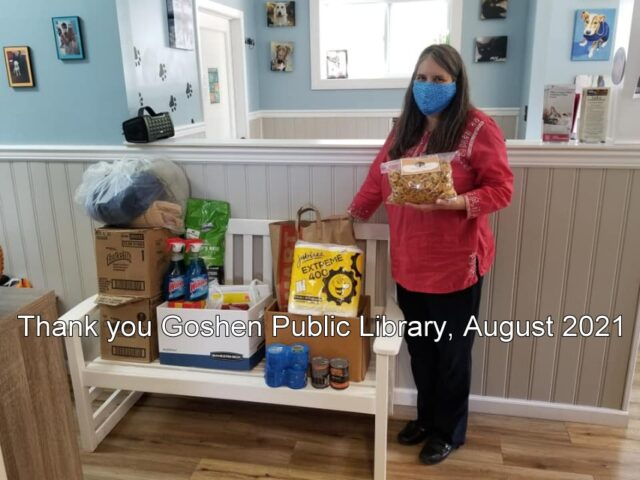 Goshen Public Library Donation August 2021